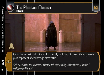 Star Wars Trading Card Game 054-thephantommenace