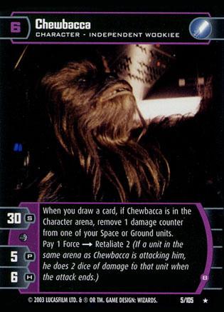 Star Wars Trading Card Game Chewbacca_B