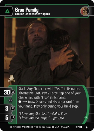 Star Wars Trading Card Game RO081_Erso_Family_A