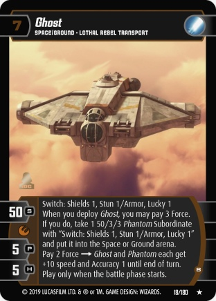 Star Wars Trading Card Game SOR018_Ghost_B