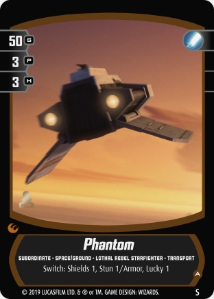 Star Wars Trading Card Game SORsub_Phantom_A