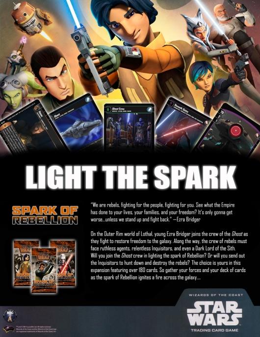SWTCG SOR (Spark of Rebellion) Poster