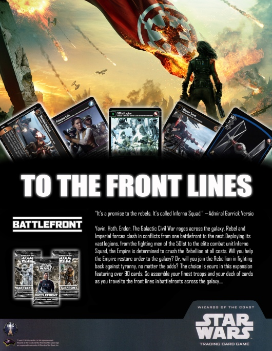 SWTCG BF (Battlefront) Poster