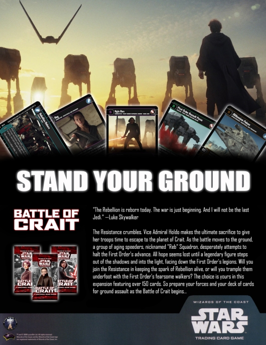 SWTCG BOC (Battle of Crait) Poster