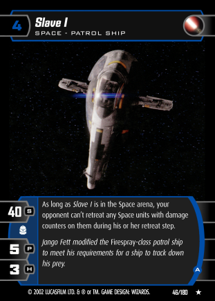 Star Wars Trading Card Game AOTC046_Slave_I_A