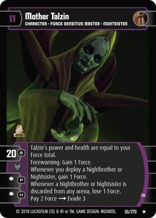 Star Wars Trading Card Game BL055_Mother_Talzin_B