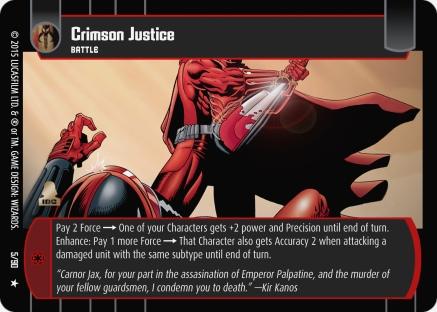 Star Wars Trading Card Game EE005_Crimson_Justice