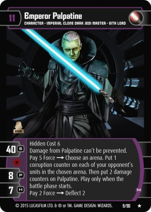 Star Wars Trading Card Game EE009_Emperor_Palpatine_M