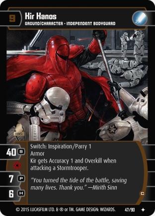 Star Wars Trading Card Game EE047_Kir_Kanos_C
