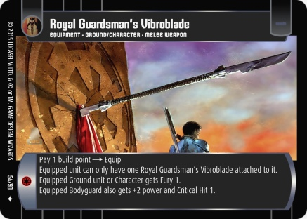 Star Wars Trading Card Game EE054_Royal_Guardsman_s_Vibroblade