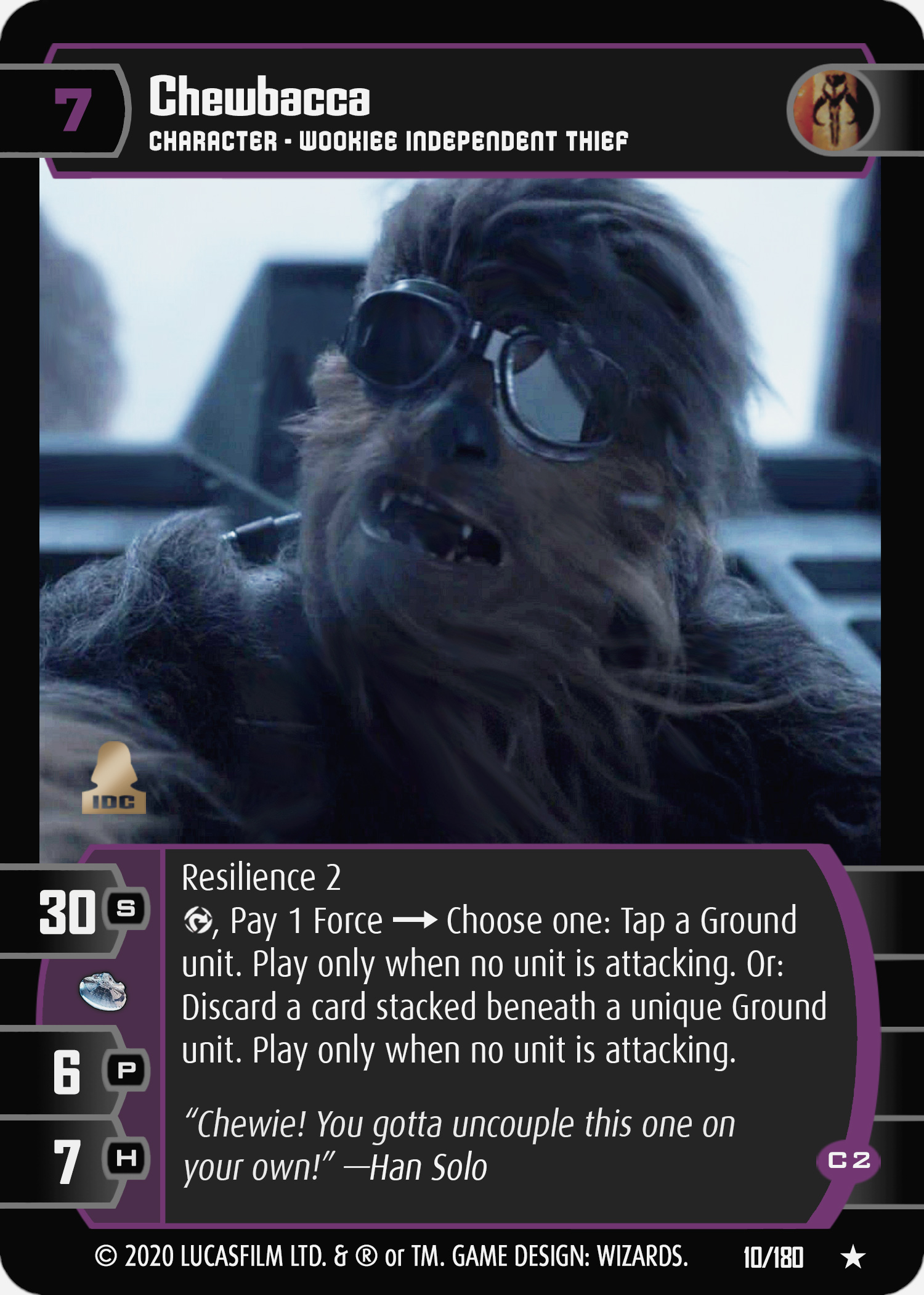 Star Wars Trading Card Game SOLO010_Chewbacca_C2