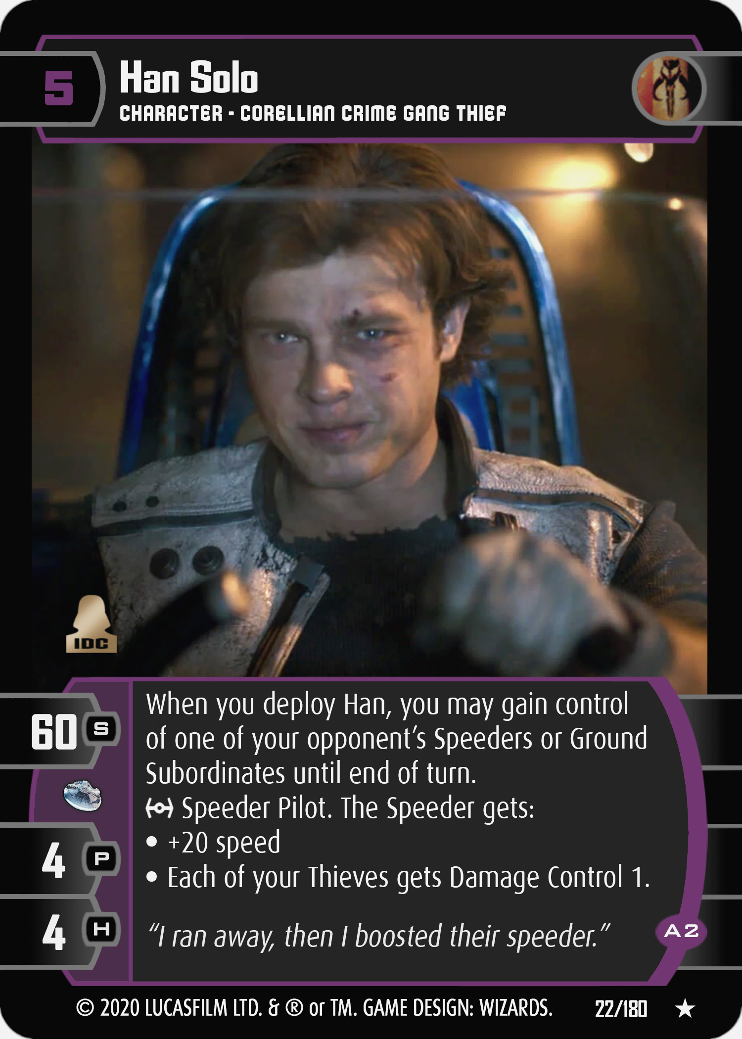 Star Wars Trading Card Game SOLO022_Han_Solo_A2