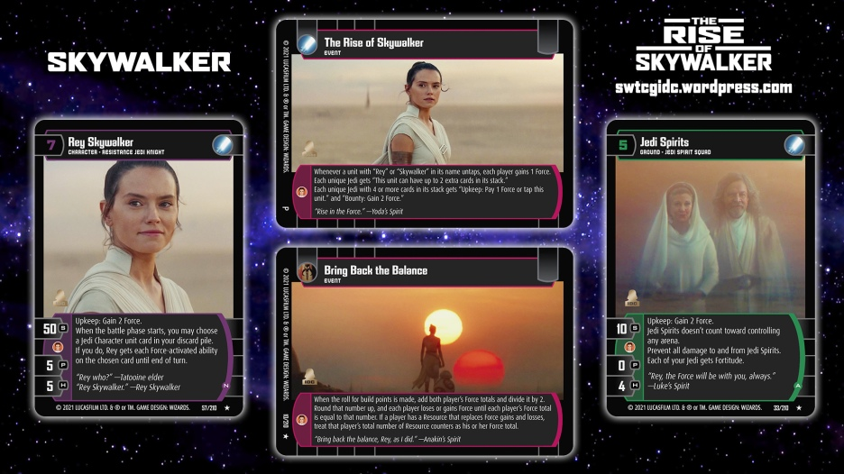Star Wars Trading Card Game TROS Wallpaper 6 - Skywalker